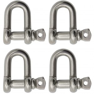 2-Pack Extreme Max Silver Standard 3006.8369.2 BoatTector Stainless Steel Bolt-Type Anchor Shackle-5//16