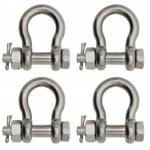 Extreme Max Silver Standard 3006.8381 BoatTector Stainless Steel Bolt-Type Anchor Shackle-5//8
